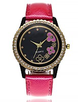 cheap -Women's Wrist watch Fashion Watch Chinese Quartz Large Dial Leather Band Casual Minimalist Black White Brown Pink Rose