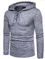 cheap -Men's Daily Polka Dot Hooded Hoodie Regular, Long Sleeves Winter Cotton