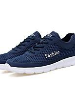 Недорогие -Муж. обувь Дерматин Весна Лето Удобная обувь Кеды для Повседневные Черный Серый Синий