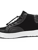 Недорогие -обувь Полиуретан Дерматин Весна Осень Удобная обувь Кеды для Повседневные Белый Черный