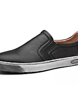 cheap -Men's Shoes Synthetic Microfiber PU Spring Fall Comfort Loafers & Slip-Ons for Casual Brown Gray Black