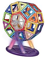 preiswerte -Magnetische Bauklötze Spielzeuge Kreisförmig Architektur Fahrzeuge Transformierbar Handgefertigt Klassisch Jungen Mädchen 77 Stücke