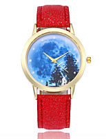 cheap -Women's Wrist watch Fashion Watch Chinese Quartz Casual Watch Leather Band Colorful Black White Blue Red Brown Pink Rose