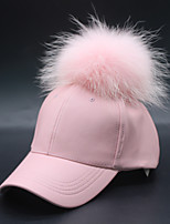 cheap -Women's Casual PU Ski Hat Sun Hat Baseball Cap - Solid Colored, Stylish