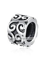 cheap -DIY Jewelry 1 pcs Beads Silver Black Round Bead 0.7 DIY Bracelet Necklace