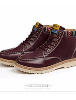 Недорогие -Для мужчин обувь Полиуретан Весна Осень Удобная обувь Армейские ботинки Ботинки Ботинки для Повседневные Белый Черный Винный