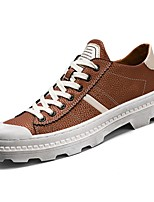 cheap -Men's Shoes Rubber Winter Fall Comfort Sneakers for Outdoor Black Brown Red