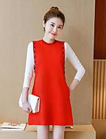 economico -Vestiti Completi abbigliamento Da donna Per eventi Semplice Primavera,Monocolore Girocollo Cotone Maniche lunghe