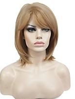 abordables -Mujer Pelucas sintéticas Medio Corte Recto Rubio Corte Bob Peluca de celebridades Pelucas para Disfraz