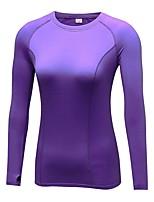 economico -Per donna T-shirt da corsa Manica lunga Traspirabilità T-shirt per Yoga Corsa Esercizi di fitness Attività all'aperto Poliestere Taglia