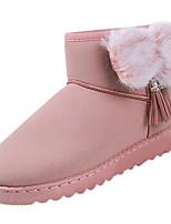abordables -Mujer Zapatos PU Primavera Otoño Confort Botas Plano para Negro Gris Rosa