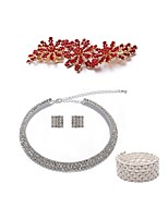 cheap -Women's Hair Combs Bridal Jewelry Sets Rhinestone Fashion European Wedding Party Imitation Pearl Imitation Diamond Alloy Geometric Body
