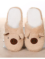 cheap -Unisex Shoes Fleece Spring Fall Comfort Slippers & Flip-Flops Low Heel for Casual Brown Pink