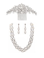 cheap -Women's Hair Combs Bridal Jewelry Sets Rhinestone Fashion European Wedding Party Imitation Pearl Imitation Diamond Alloy Dream Catcher