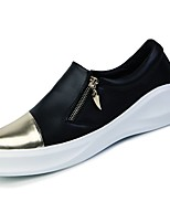cheap -Men's Shoes PU Spring Fall Comfort Sneakers for Casual Black/White Black/Gold Black White