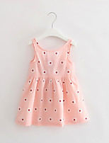 cheap -Girl's Party Daily School Holiday Going out Floral Print Jacquard Dress,Cotton All Season Sleeveless Simple Vintage Cute Blushing Pink
