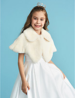 cheap -Sleeveless Faux Fur Wedding Party / Evening Kids' Wraps With Buckle Capelets