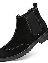 cheap -Men's Shoes Real Leather Suede Nappa Leather Winter Fall Comfort Bootie Boots Booties/Ankle Boots for Casual Office & Career Black