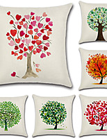 cheap -6 pcs Cotton/Linen Pillow CoverFloral Botanical Bohemian Style