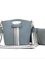 cheap -Women Bags PU Bag Set Zipper for Casual All Season Blue Black Red Brown