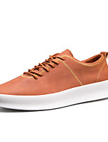 cheap -Men's Shoes PU Spring Fall Comfort Sneakers for Outdoor Black Gray Brown