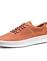 preiswerte -Herrn Schuhe PU Frühling Herbst Komfort Sneakers für Draussen Schwarz Grau Braun
