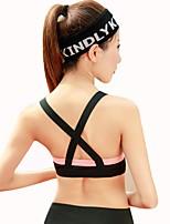 cheap -Women's Sports Bras Sweat-Wicking Breathability Sports Bra for Yoga Running/Jogging Polyester Black/Orange Grey Black XL L M S