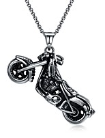 cheap -Men's , Vintage Rock Statement Jewelry Pendant Necklace , Stainless Steel Pendant Necklace , Carnival Street