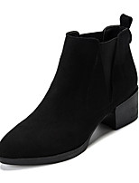 cheap -Women's Shoes Fleece Microfibre Winter Fall Combat Boots Comfort Fashion Boots Boots Chunky Heel Booties/Ankle Boots Side-Draped for