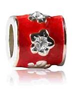 cheap -DIY Jewelry 1 pcs Beads Imitation Diamond Alloy Red Cylinder Bead 0.5 DIY Bracelet Necklace
