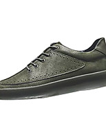 cheap -Shoes PU Leatherette Spring Fall Comfort Sneakers for Casual Black Gray Green