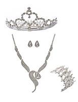 cheap -Women's Tiaras Bridal Jewelry Sets Rhinestone Fashion European Wedding Party Imitation Diamond Alloy Fox Body Jewelry 1 Necklace 1
