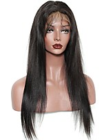 cheap -Remy Human Hair Full Lace Wig Brazilian Hair Natural Wave Layered Haircut With Ponytail With Baby Hair With Bangs 130% 150% 180% Density
