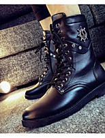 cheap -Men's Shoes PU Winter Fall Comfort Combat Boots Boots Mid-Calf Boots for Casual Black