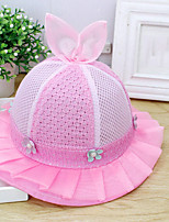 cheap -Girls' Hats & Caps, Summer Cotton Orange Blushing Pink Yellow Fuchsia