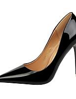 abordables -Femme Chaussures Similicuir Printemps Automne Confort Chaussures à Talons Talon Aiguille Bout pointu pour Soirée & Evénement Or Noir