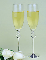 cheap -Glass Zinc Alloy Toasting Flutes Gift Box Wedding All Seasons