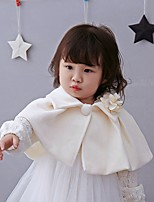 cheap -Girls' Party Solid Suit & Blazer,Nylon ½ Length Sleeve Cute Beige