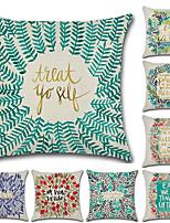 cheap -8 pcs Cotton/Linen Pillow Cover,Floral Bohemian Style Letter