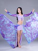 abordables -Danza del Vientre Accesorios Niños Actuación Algodón Lino Modal Ceñido Mangas largas Cintura Baja Faldas Tops