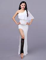 cheap -Belly Dance Dresses Women's Training Performance Modal Tulle Split Sleeveless Dropped Dresses Shorts