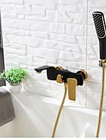 Недорогие -Современный Ручная душевая лейка Крепления и аксессуары Ванна и душ Водопад Ручная лейка входит в комплект Керамический клапан Одной