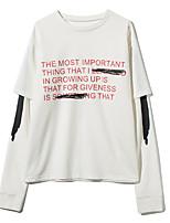 abordables -Mujer Camiseta Letra Algodón