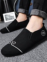 Недорогие -Муж. обувь Полиуретан Весна Осень Удобная обувь Мокасины и Свитер для Повседневные Черный Серый