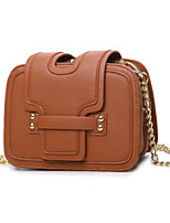 cheap -Women Bags PU Shoulder Bag Buttons for Casual All Season Brown Gray Red Black Blue
