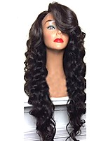 cheap -Remy Brazilian Lace Wig Body Wave With Baby Hair Glueless Lace Front Unprocessed African American Wig Natural Hairline 130% 150% 180%
