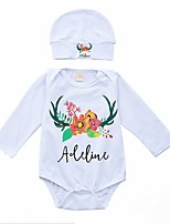 cheap -Baby Floral One-Pieces,Cotton Spring White