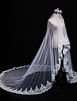 cheap -One-tier Bridal Wedding Wedding Veil Cathedral Veils 53 Laces Tulle