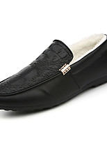 cheap -Men's Shoes PU Spring Fall Comfort Loafers & Slip-Ons for Outdoor Orange Black White