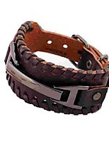 cheap -Men's Bangles , Simple Rock Leather Circle Jewelry Daily Costume Jewelry
